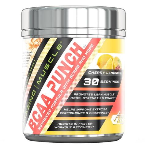 Image of Amazing Muscle - BCAA PUNCH - 30 Servings (Cherry Lemonade)