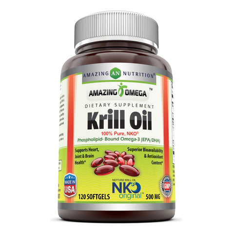 Amazing Omega Nko Neptune Krill Oil 500 Mg 120 Softgels