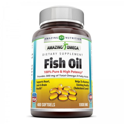 Image of Amazing Omega Fish Oil 1000 Mg 400 Softgels