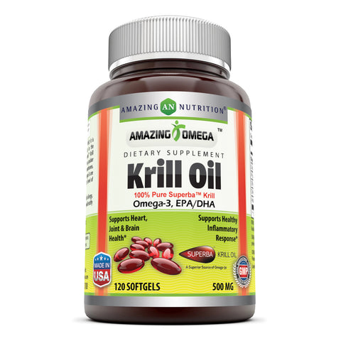 Amazing Omega Superba Krill Oil 500 Mg 120 Softgels