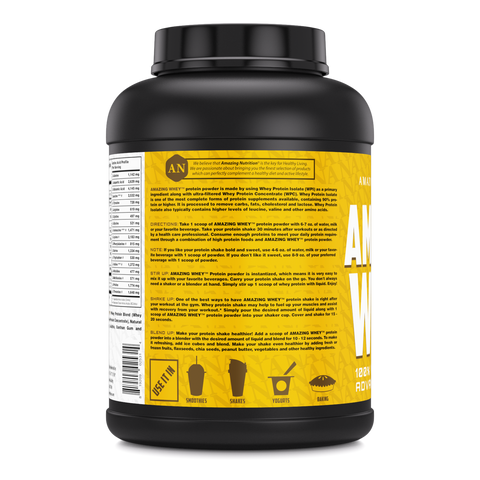 Image of Amazing Whey Whey Protein (Isolate & Concentrate) - 5 Lb, Banana Flavor