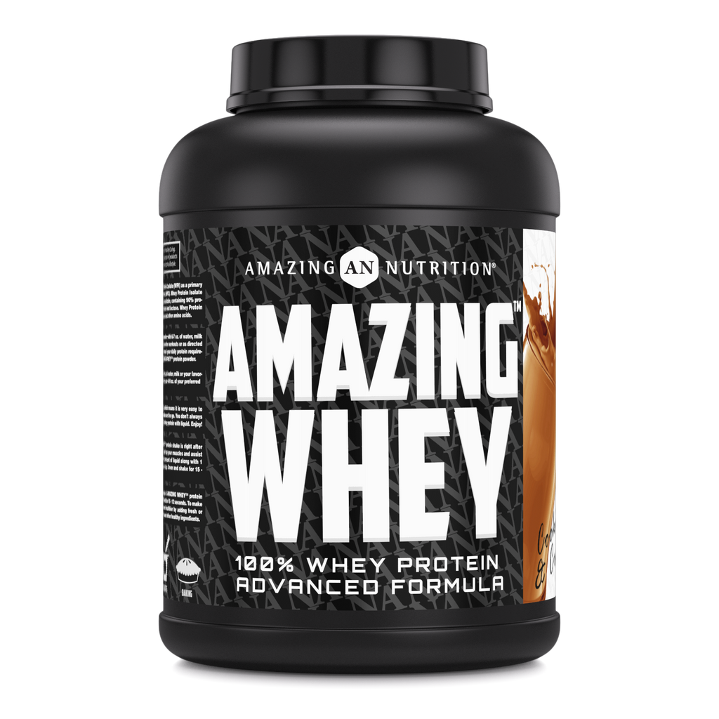 Amazing Whey Whey Protein (Isolate & Concentrate) - 5 Lb, Cookies & Cream Flavor