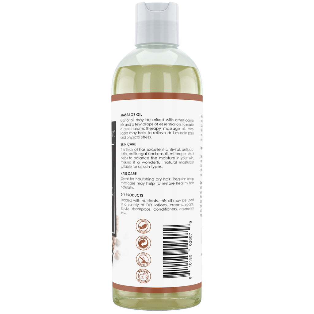 Amazing Aroma Castor oil 16 Fl Oz 473 Ml - Amazing Nutrition
