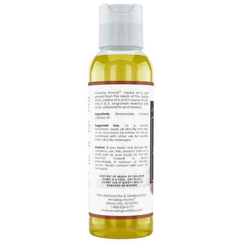 Image of Amazing Aroma Jojoba oil 4 Fl Oz - Amazing Nutrition
