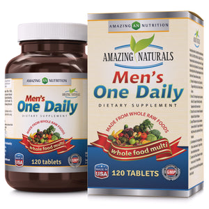 Amazing Naturals MENS ONE DAILY Multivitamin  120 Tablets