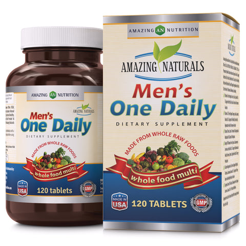 Amazing Naturals Men's One Daily Multivitamin 120 Tablets
