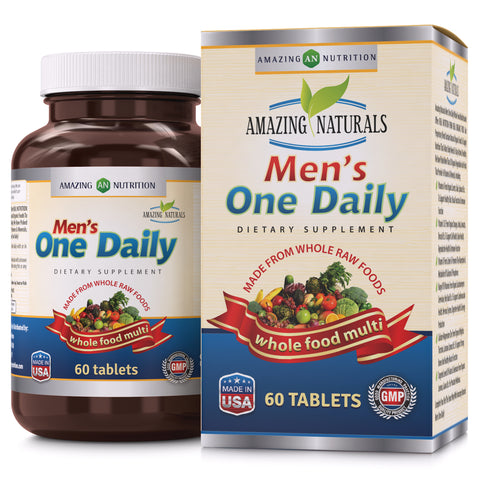 Image of Amazing Naturals MEN'S ONE DAILY Multivitamin 60 Tablets
