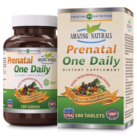 Image of Amazing Naturals PRENATAL ONE DAILY Multivitamin 180 Tablets