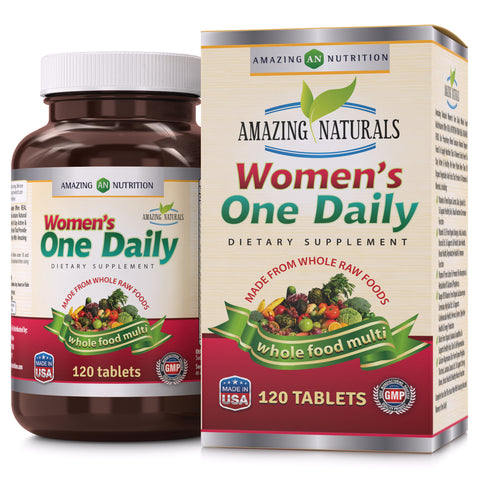 Amazing Naturals WOMEN'S ONE DAILY Multivitamin 120 Tablets