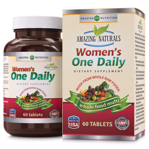 Image of Amazing Naturals WOMEN'S ONE DAILY Multivitamin 60 Tablets