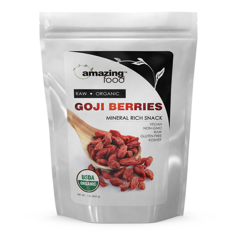 Amazing Food Organic Goji Berries 1 Lb Powder - Amazing Nutrition