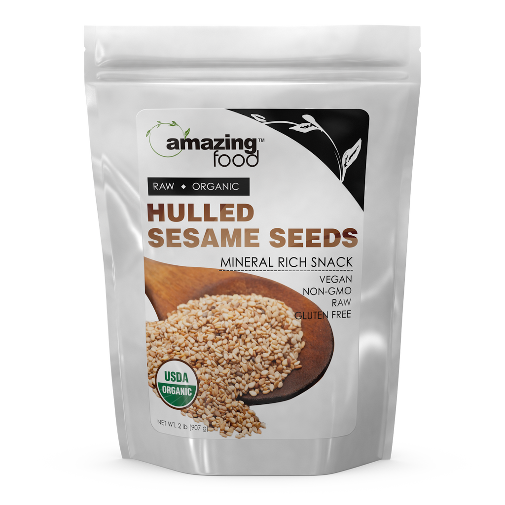 Amazing Food Organic Hulled Sesame Seeds 2 Lb