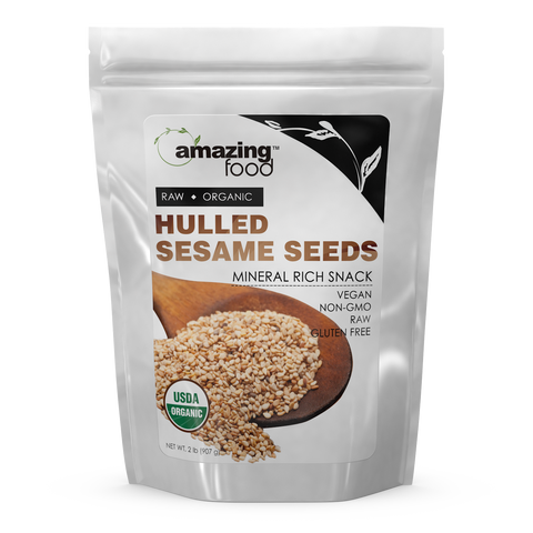 Image of Amazing Food Organic Hulled Sesame Seeds 2 Lb