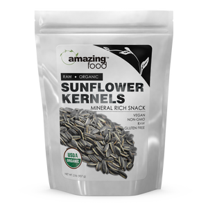 Amazing Food Organic Sunflower Kernels 2 Lb - Amazing Nutrition