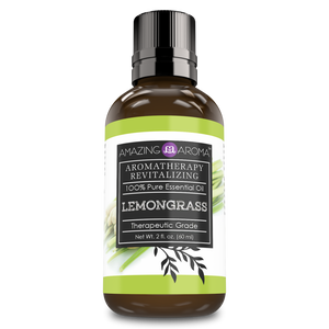 Amazing Aroma Lemongrass Essential Oil 2 Oz - Amazing Nutrition