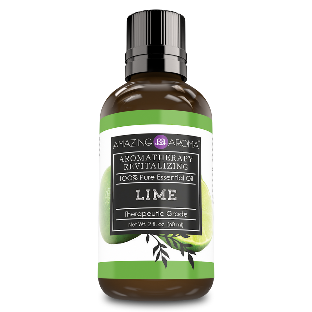 Amazing Aroma 100% Pure Lime Essential Oil 2 Oz 60 ml - Amazing Nutrition