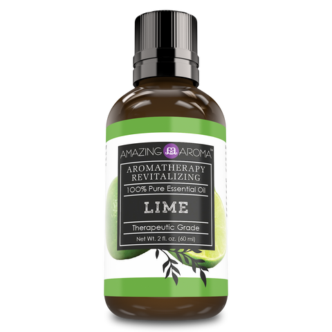 Image of Amazing Aroma 100% Pure Lime Essential Oil 2 Oz 60 ml - Amazing Nutrition