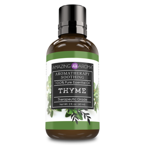 Amazing Aroma Thyme Essential Oil 2 Fl Oz 60Ml - Amazing Nutrition