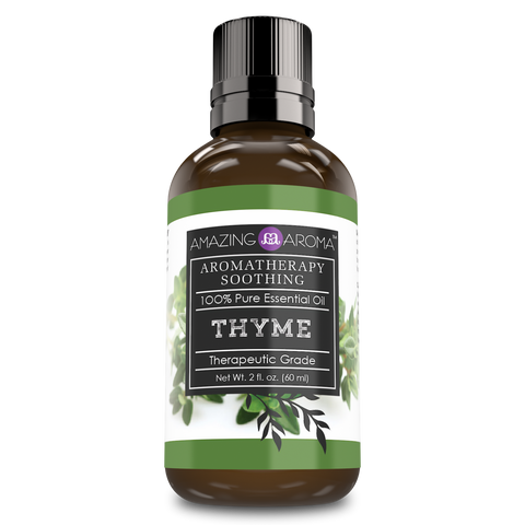 Image of Amazing Aroma Thyme Essential Oil 2 Fl Oz 60Ml - Amazing Nutrition