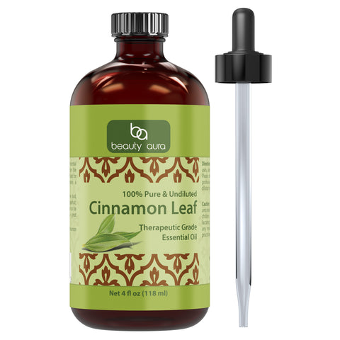 Beauty Aura Cinnamon Leaf Essential Oil 4 Fl Oz 118 Ml