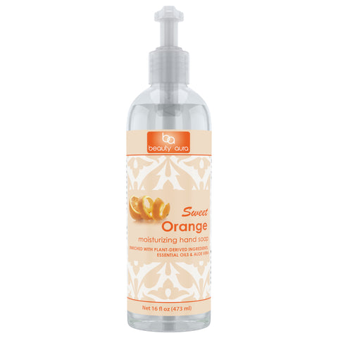 Beauty Aura Sweet Orange Moisturizing Hand Soap 16 Fl Oz