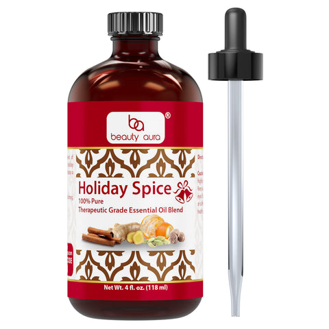 Image of Beauty Aura Holiday Spice Essential Oil 4 Fl Oz 118 Ml