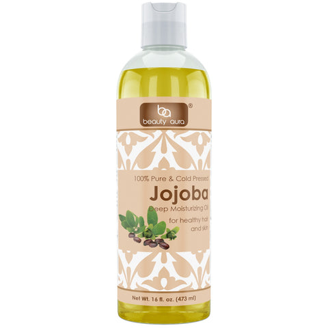 Beauty Aura Jojoba Oil 16 Fl Oz 473 Ml