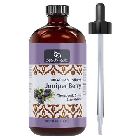 Image of Beauty Aura Juniper Berry Essential Oil 4 Fl Oz 118 Ml