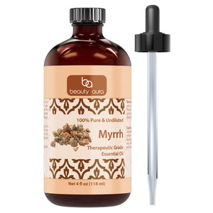 Beauty Aura Myrrh Essential Oil 4 Fl Oz 118 Ml