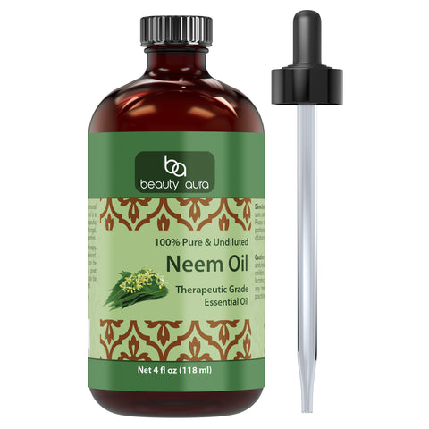 Beauty Aura Neem Essential Oil 4 Fl Oz 118 Ml