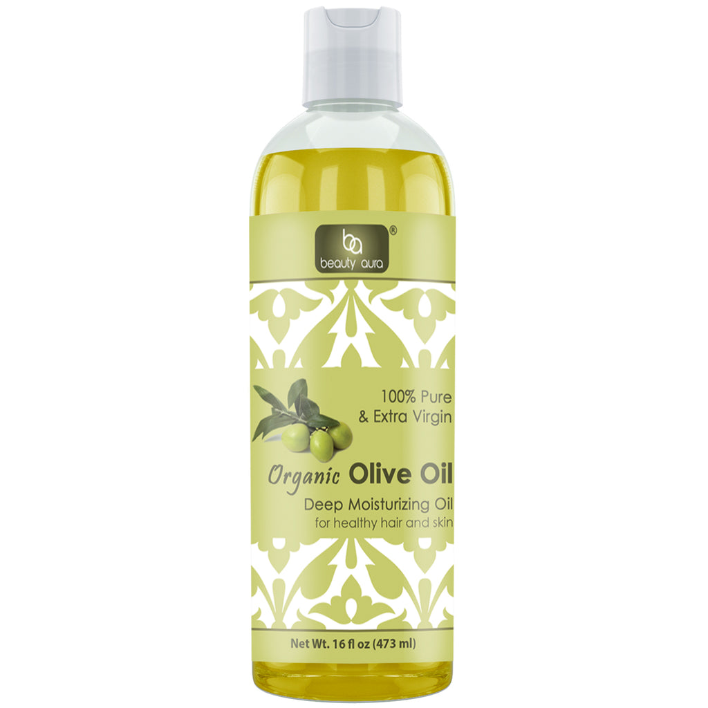 Beauty Aura Organic Oilve Oil 16 Fl Oz