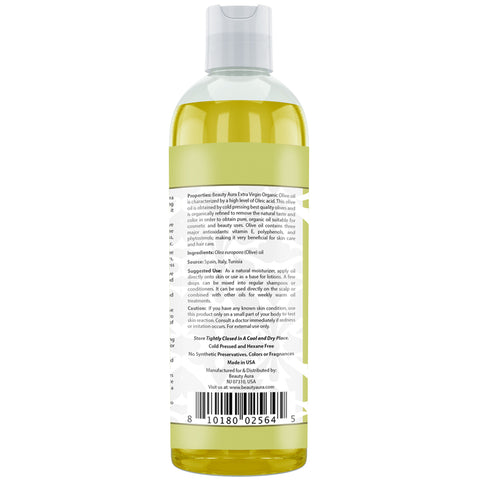 Image of Beauty Aura Organic Oilve Oil 16 Fl Oz