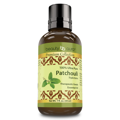 Image of Beauty Aura Premium Collection Patchouli Essential Oil 1 Fl Oz