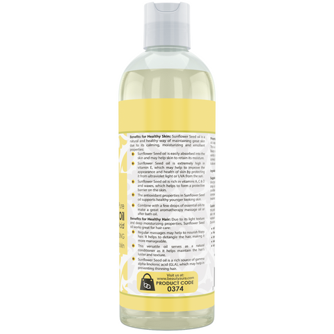 Image of Beauty Aura Sunflower Seed Oil 16 Fl Oz 473 Ml