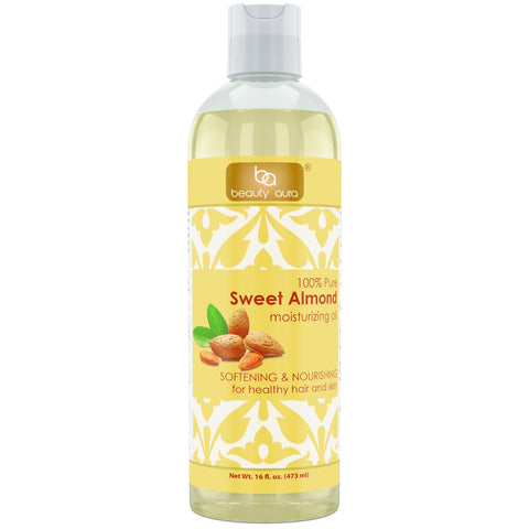 Image of Beauty Aura Pure Sweet Almond Oil 16 Fl Oz 473 Ml