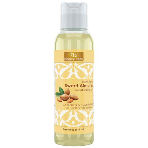 Beauty Aura Sweet Almond Oil 4 Fl Oz 118 Ml