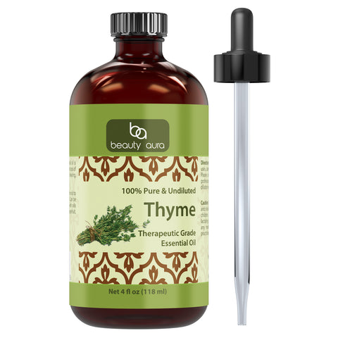Beauty Aura Thyme Essential Oil - 4 fl oz (118 ml)