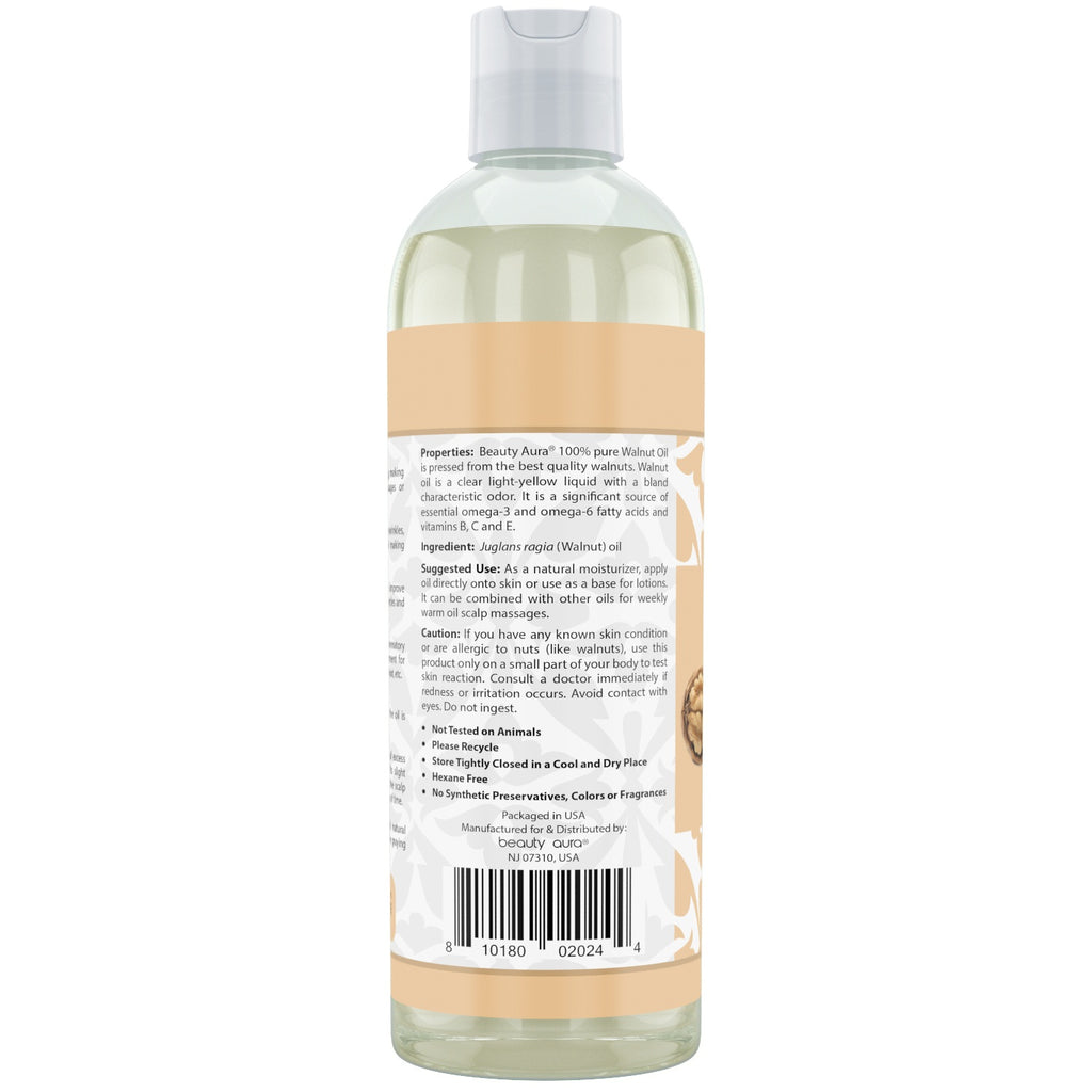 Beauty Aura Pure Walnut Oil 16 Fl Oz 473 Ml
