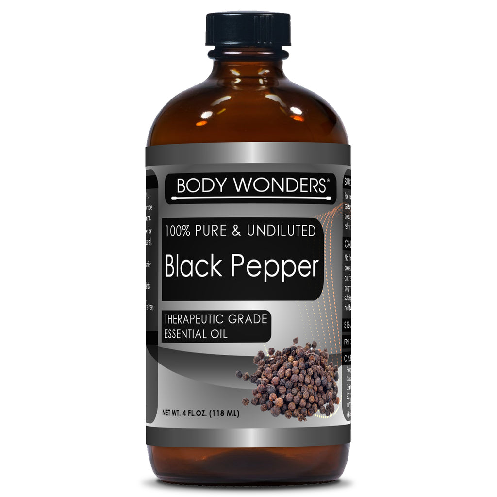 Body Wonders Black Pepper Oil 4 Fl Oz 118 Ml