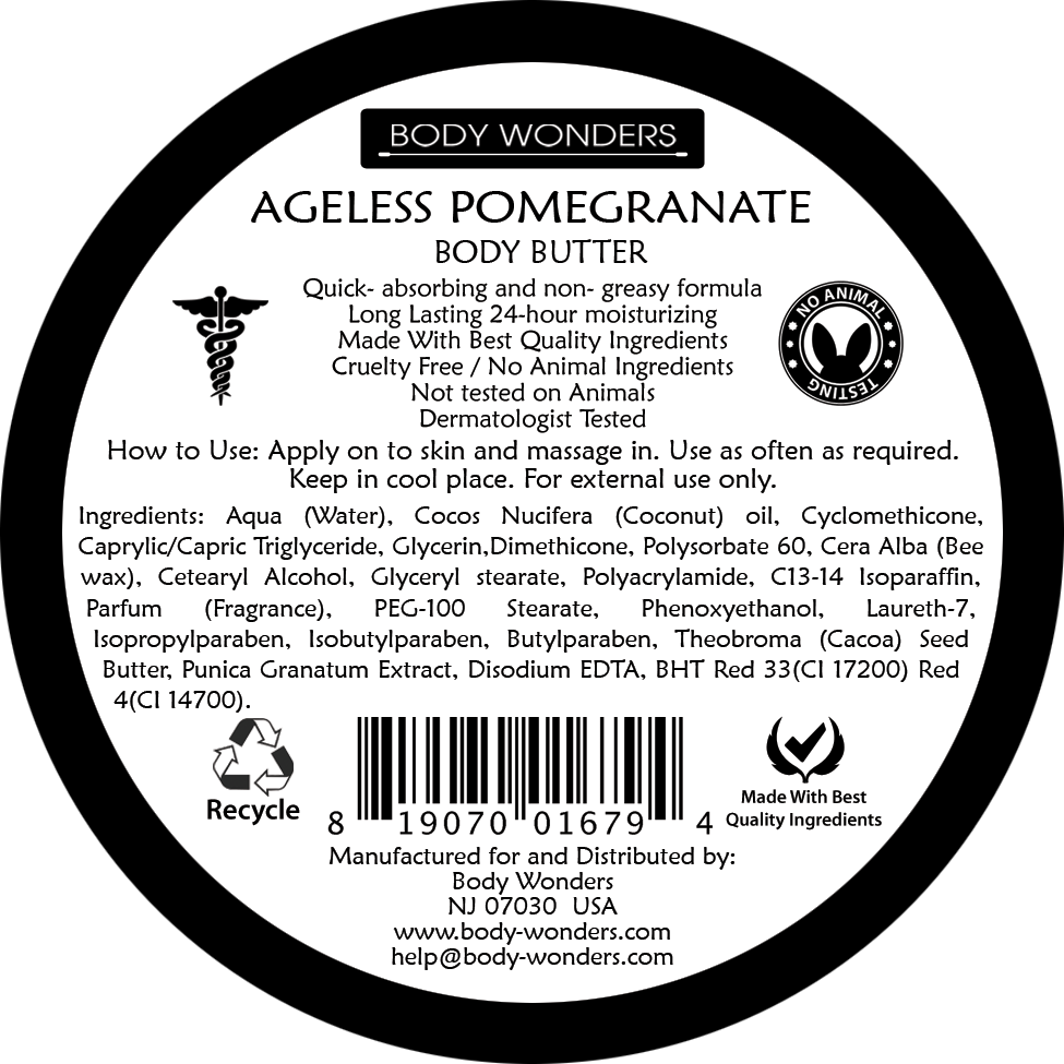 Body Wonders Ageless Pomegranate Deep Nourishing Body Butter 196 Gm 6.9 Fl Oz