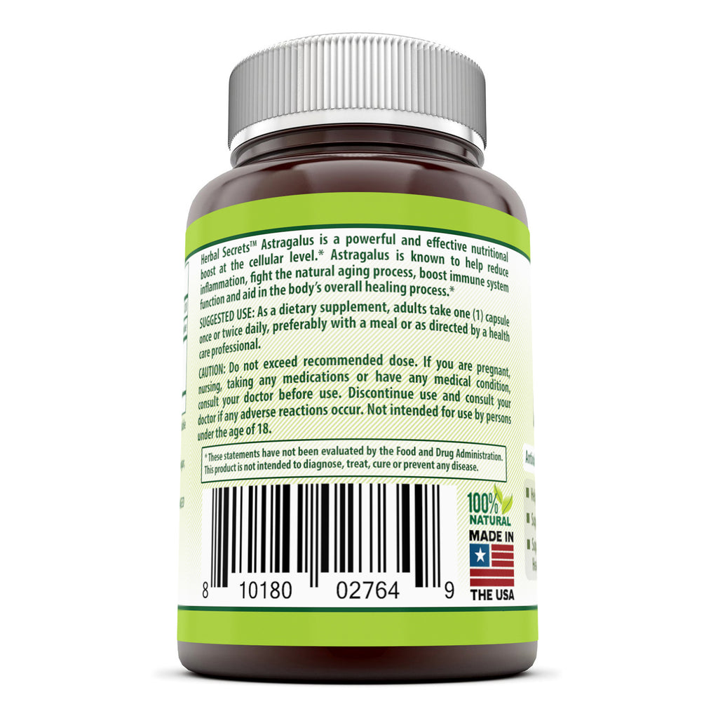 Herbal Secrets Astragalus 1000 Mg 120 Capsules