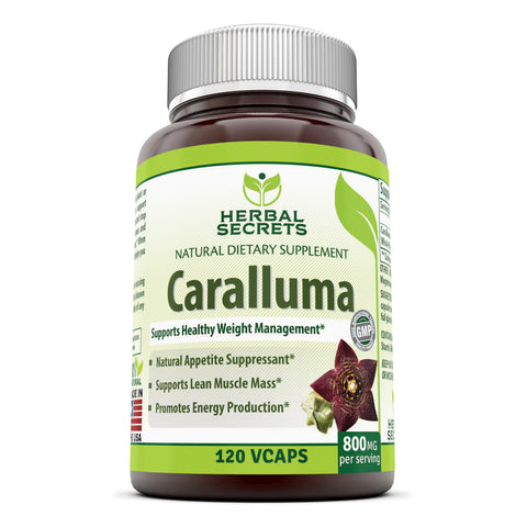Image of Herbal Secrets Caralluma 800 Mg 120 Vegetarian Capsules