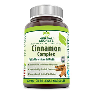 Herbal Secrets Cinnamon Complex 120 Quick Release Capsules
