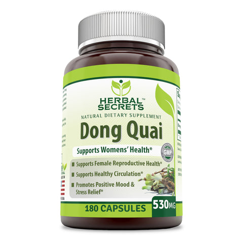 Image of Herbal Secrets Dong Quai 530 Mg 180 Capsules