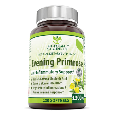Image of Herbal Secrets Evening Primrose Oil 1300 Mg 120 Softgels