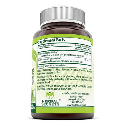 Herbal Secrets Ginkgo Biloba 120 mg 200 capsules