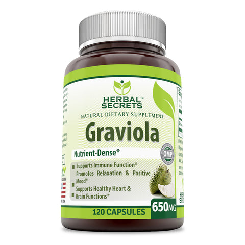 Image of Herbal Secrets Graviola 650 Mg 120 Capsules