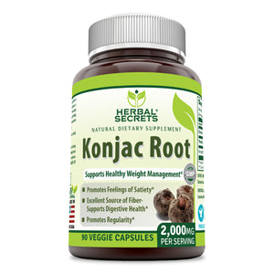 Herbal Secrets Konjac Root 2000 Mg 90 Veggie Capsules