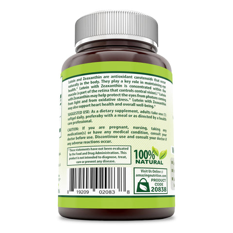 Image of Herbal Secrets Lutein 20 Mg 120 Softgels