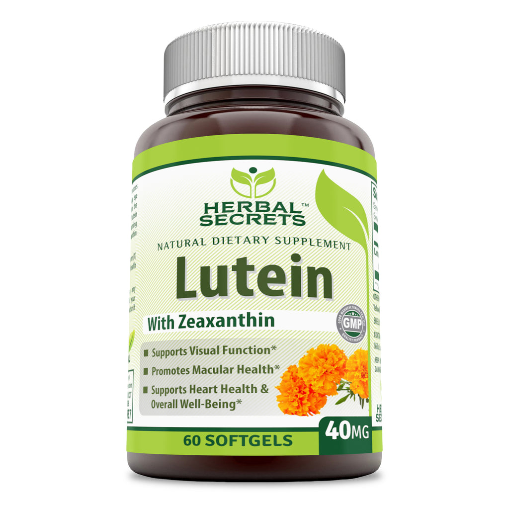 Herbal Secrets Lutein with Zeaxanthin 40 Mg 60 Softgels